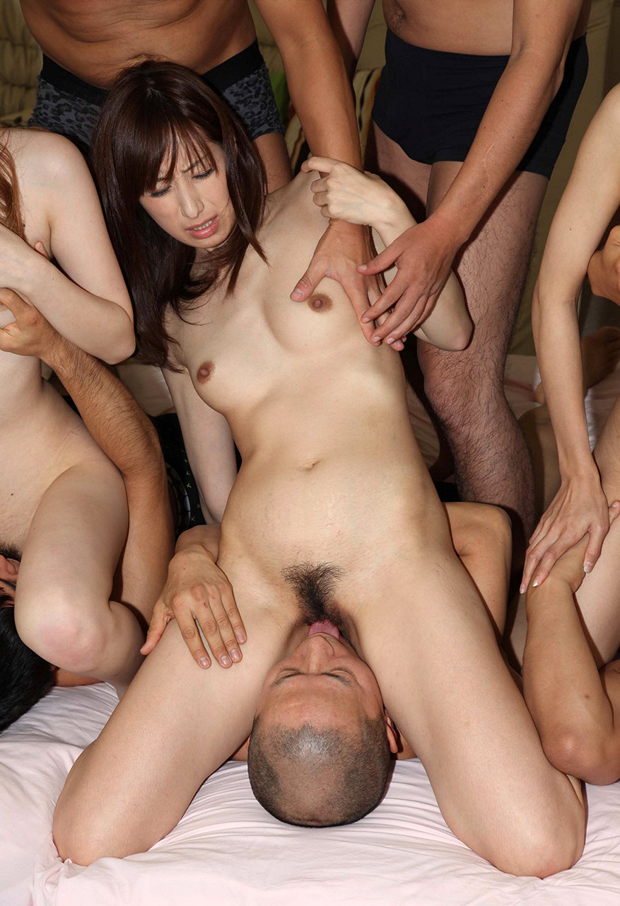 Asian girl gangbanged